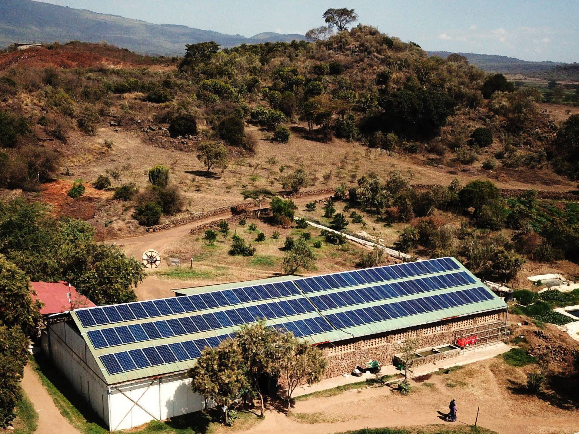 75 kW grid-tied plant at flower farm | Kenya