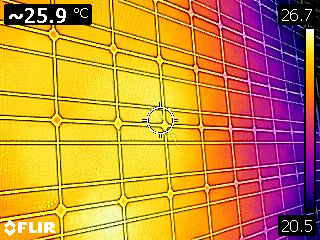 thermal imaging of solar module